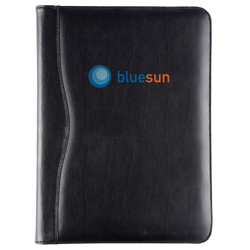 Picture of Black Balmoral Leather A4 Deluxe Zipped Ring Binder