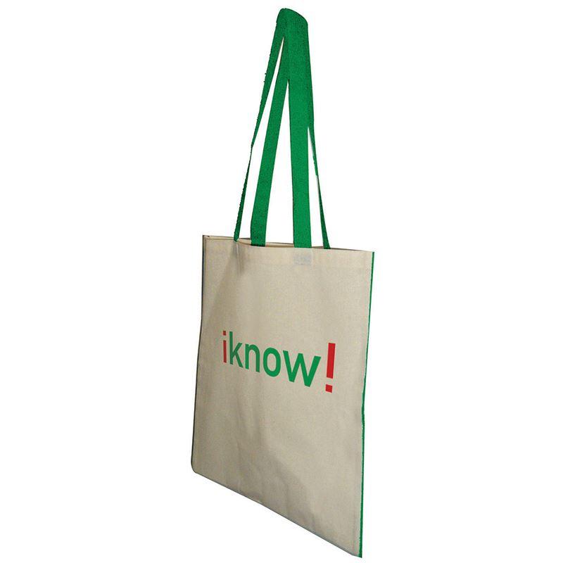 Picture of Kasa 5oz Colour Trim Cotton Bag