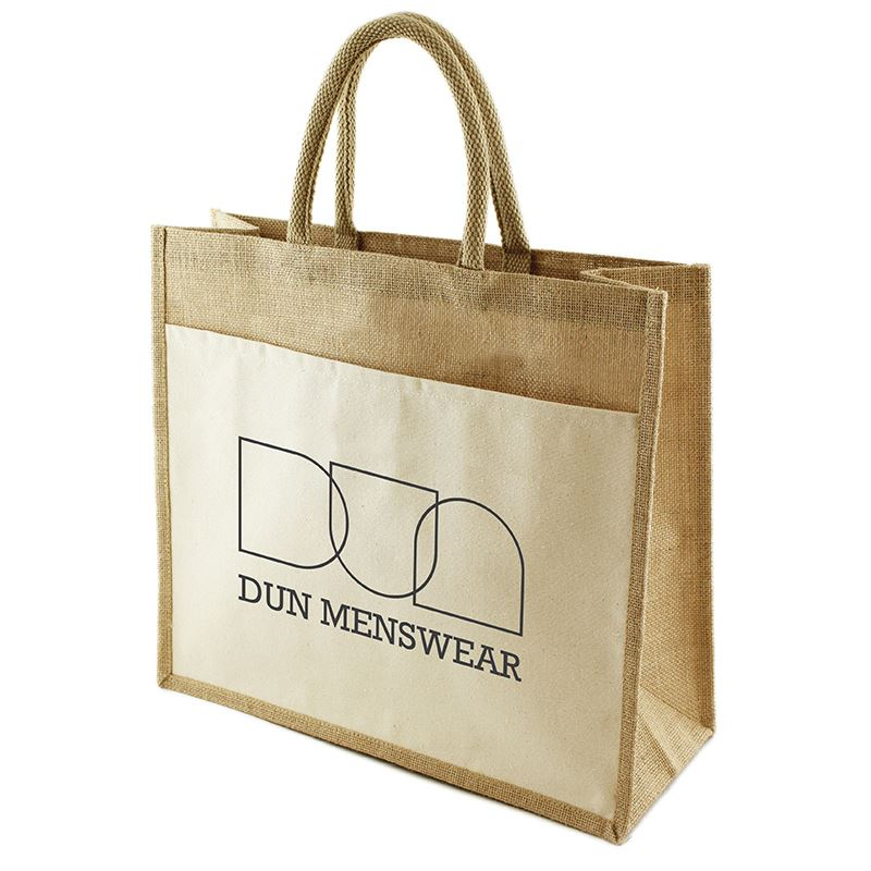 Picture of Funo Jute Bag with canvas pocket