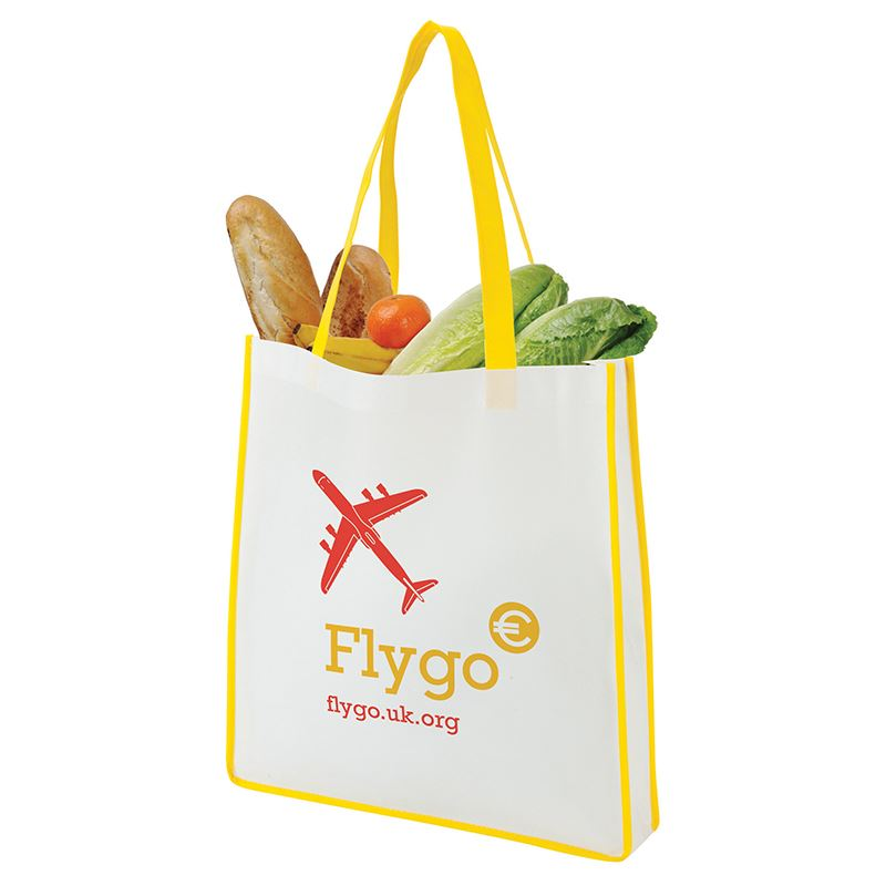 Picture of Contrast large non-woven shopping tote bag