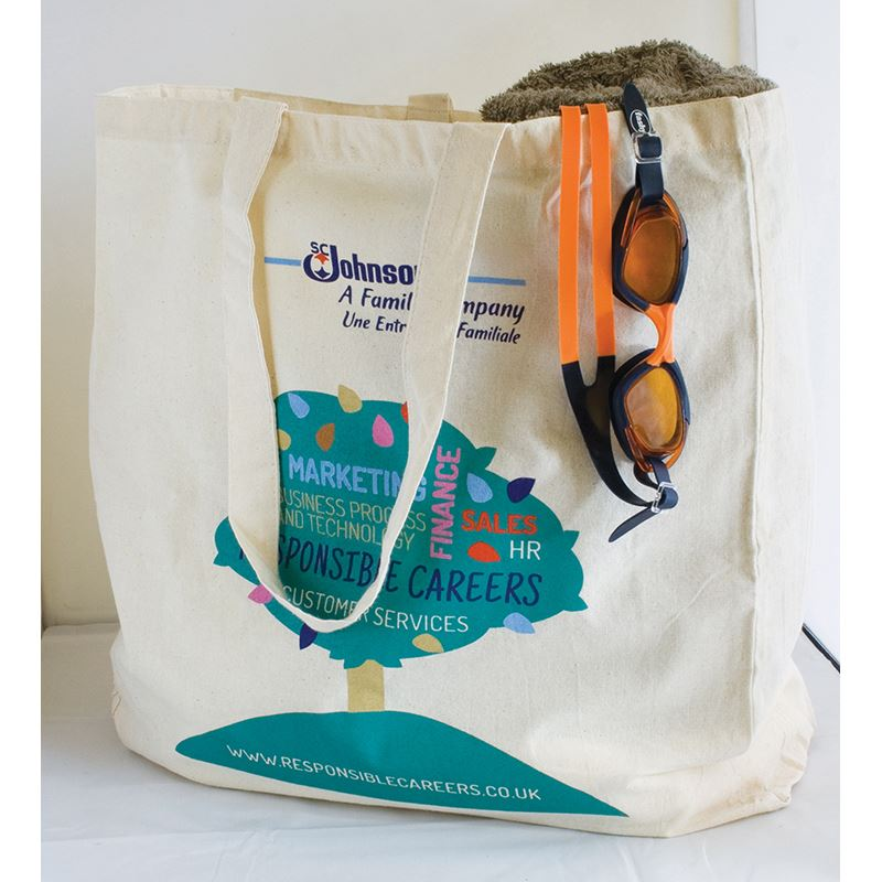 Picture of Natural 5oz Cotton Shopper with Gusset