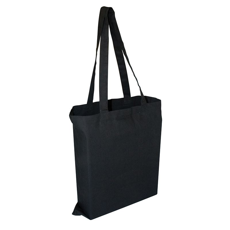 Picture of Birch 8oz Black Canvas bag with 3 sided gusset