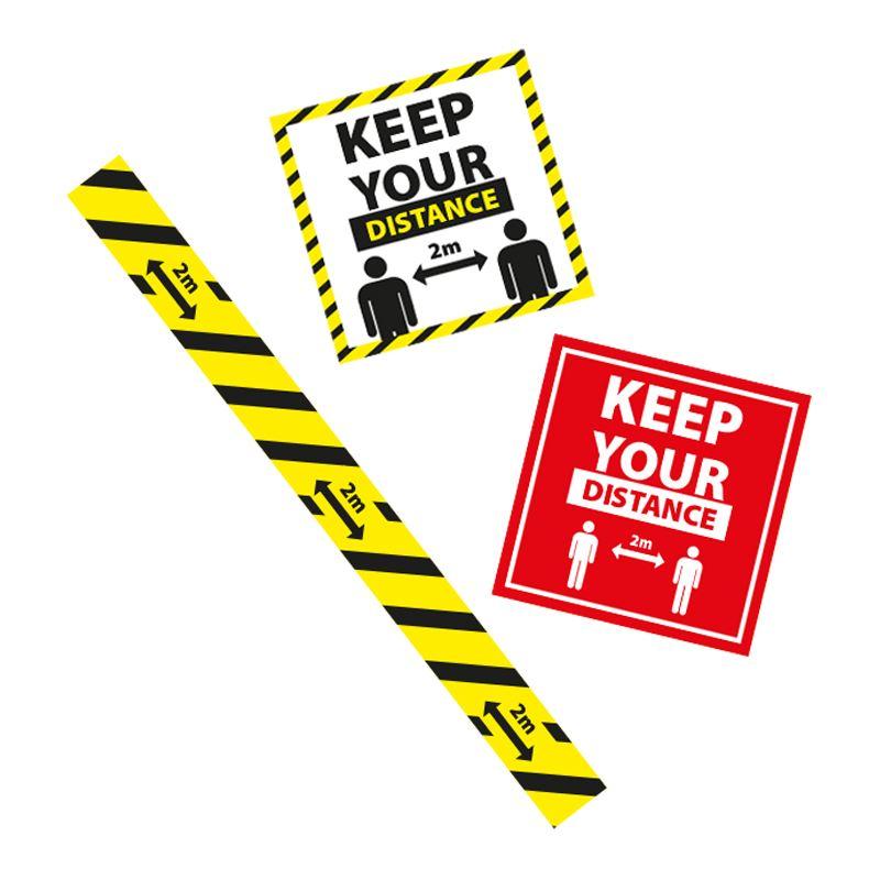 Picture of COVID-19 Awareness Vinyl Floor Stickers