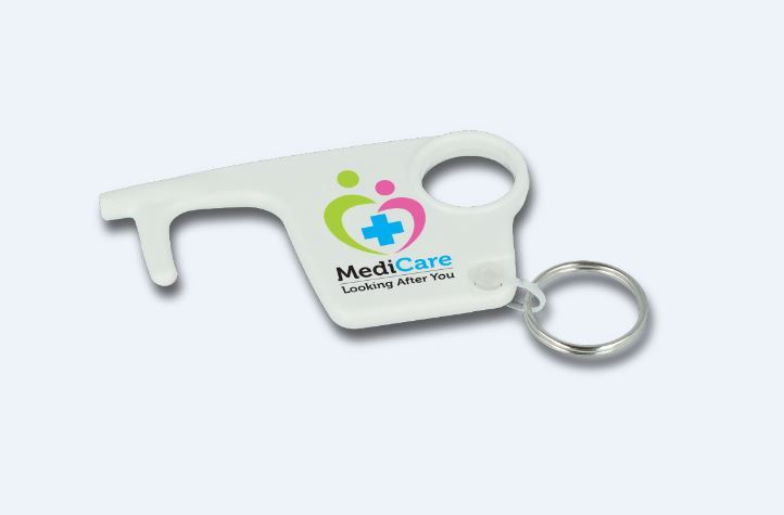 Picture of White Hygiene Hook Keyring