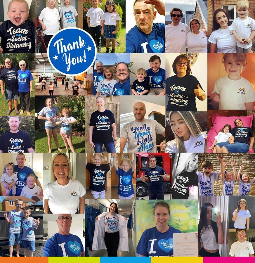 Huge thank you to everyone who has made sure those NHS heroes Never Walked Alone!