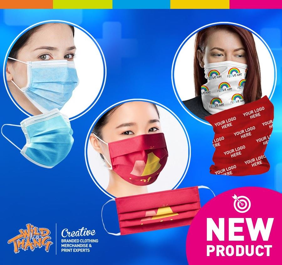 INNOVATIVE BRANDED SNOODS AND REUSABLE FACE MASKS