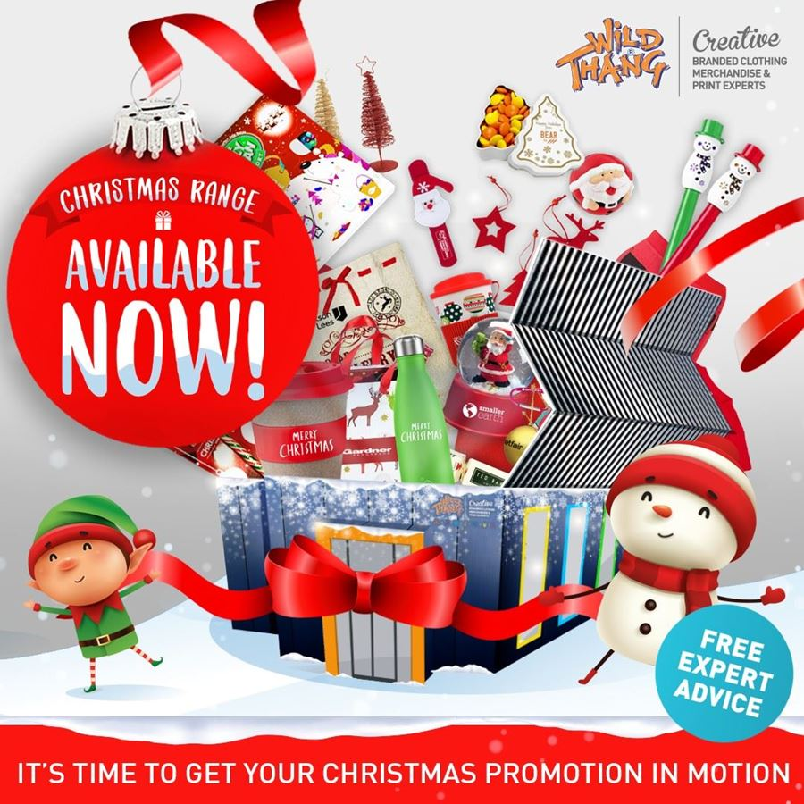 WILD THANG HAVE A VAST ARRAY OF CHRISTMAS THEMED CORPORATE GIFTS AND FESTIVE GIVEAWAYS!